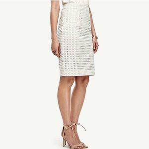 Ann Taylor eyelet pencil skirt • nwt